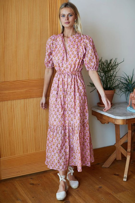 Emerson Fry Lucy Dress, Pink Marigolds