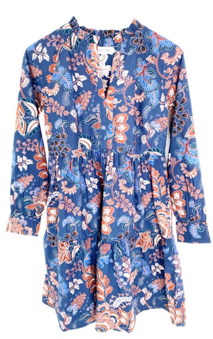 Olivia James Waverly Dress, Falling Leaves Navy