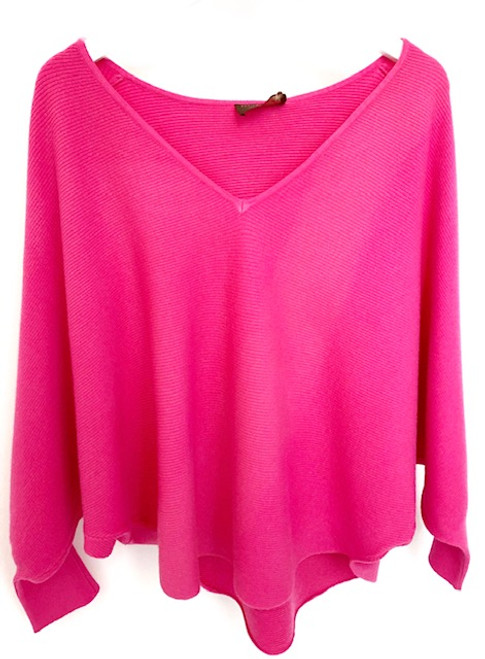 Kerisma Ryu V-neck Sweater, Hot Pink