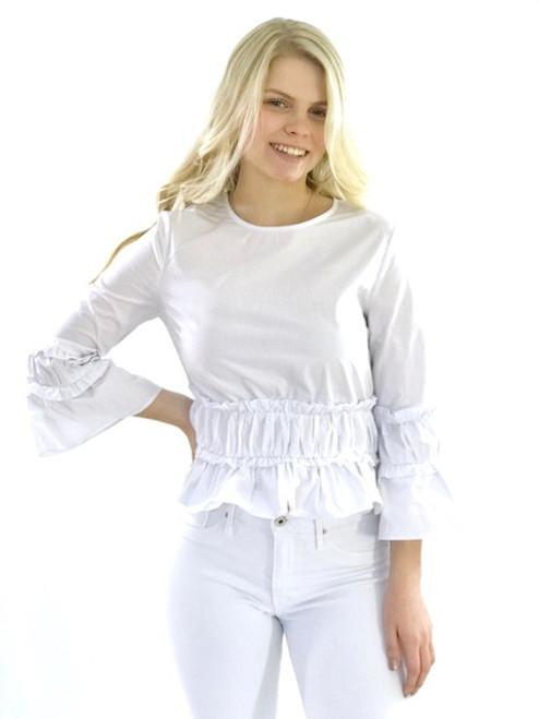English Factory Long-sleeved Ruffle Top