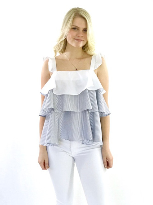 English Factory Ruffle Layer Tank