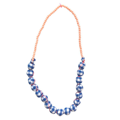 Gaia Beaded Necklace, True Blue