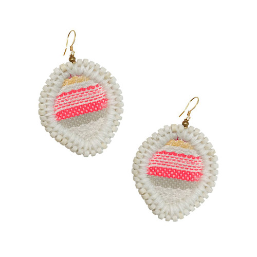 Gaia Jewel Embroidered Earrings