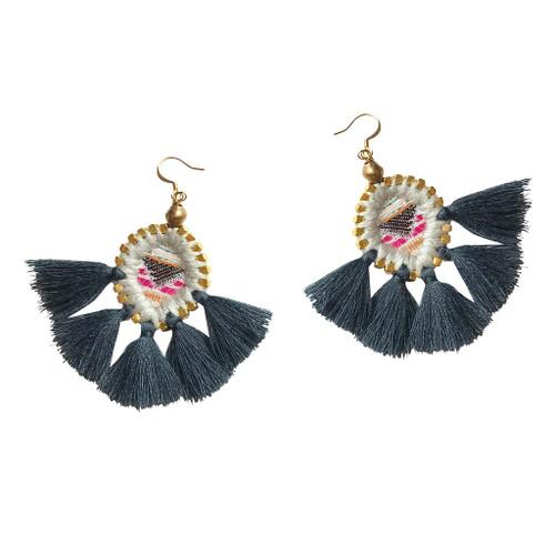 Gaia Olivia Sunburst Earrings