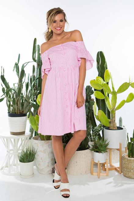 Crosby Michaela Striped Dress