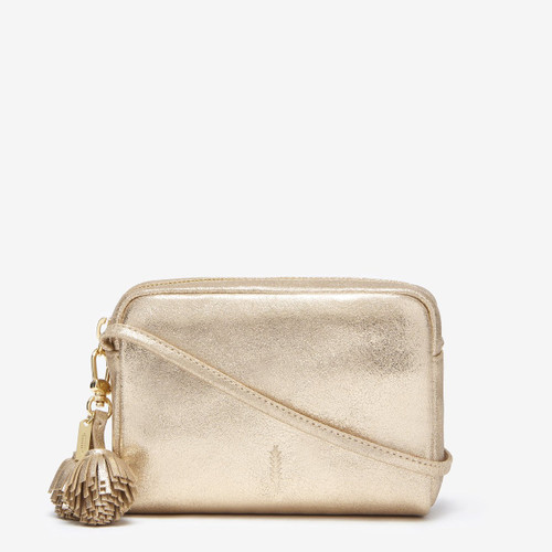 Thacker Pompom Bag, Vintage Gold