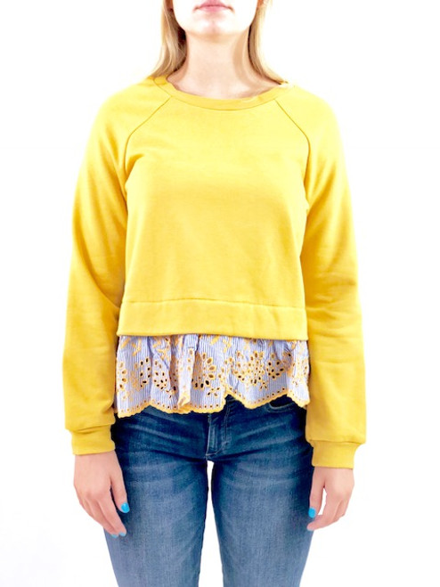 English Factory Combo Knit Top