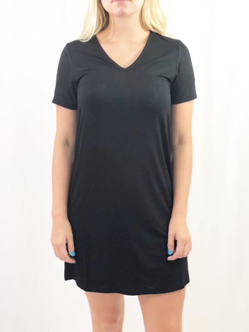 Joy Joy Tee Dress, Black