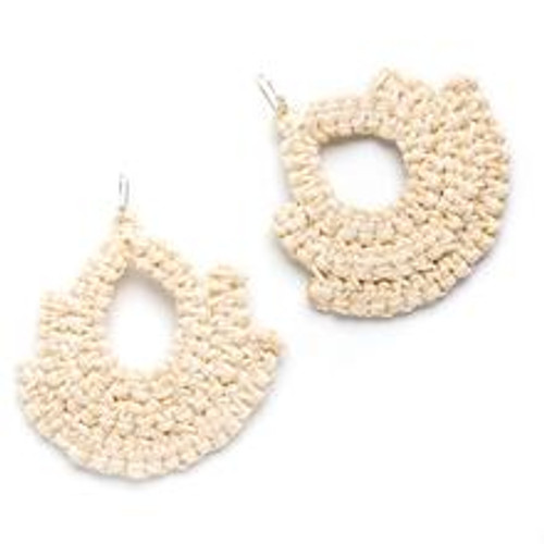 Caralarga Guerrera Earrings, Natural