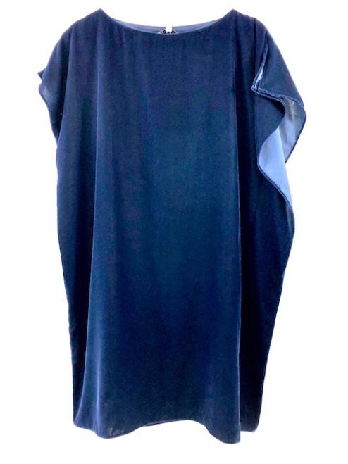 Anna Cate Eva Dress, Velvet Blue
