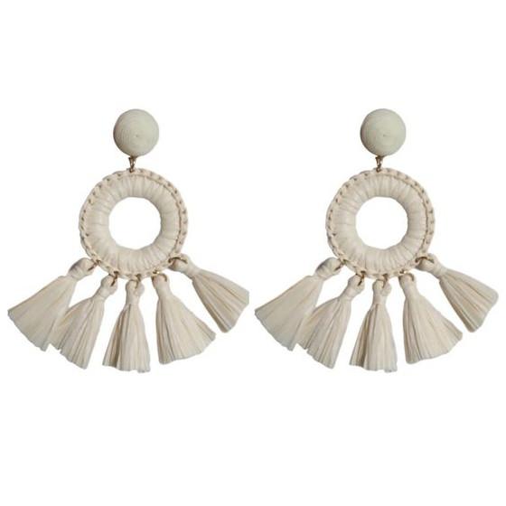 Raffia Rio Tassel Earrings