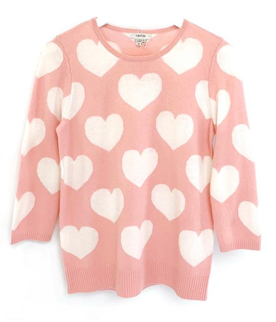 Tyler Boe Cashmere Hearts Sweater