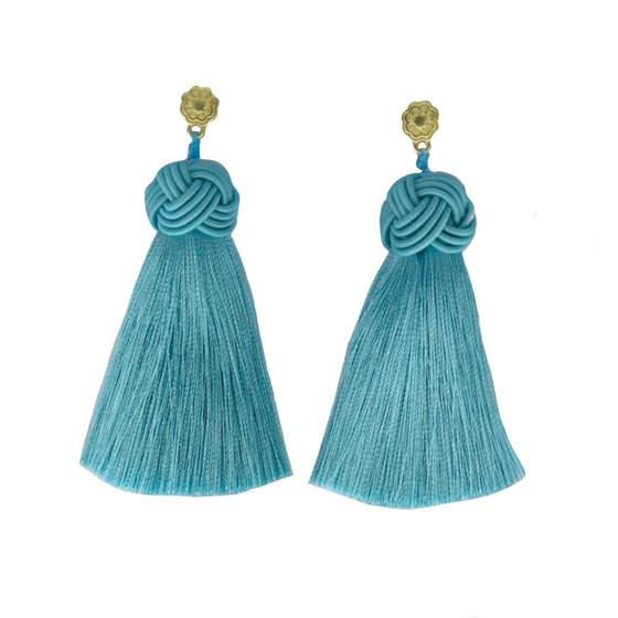 Hart Top Knot Earrings - Cabana Blue
