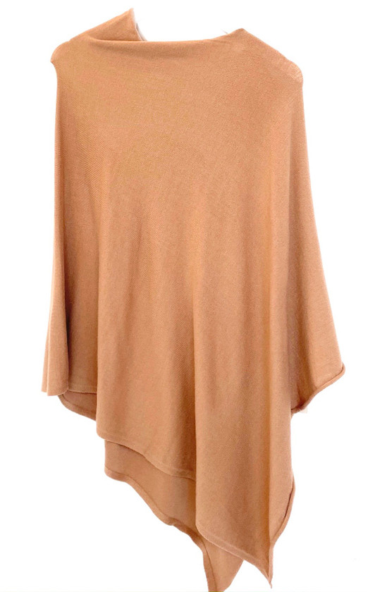 Monkee's Lightweight Cashmere Poncho, Taupe