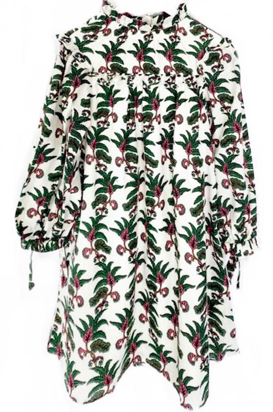 Olivia James Emma Dress, Indian Leaf Pine