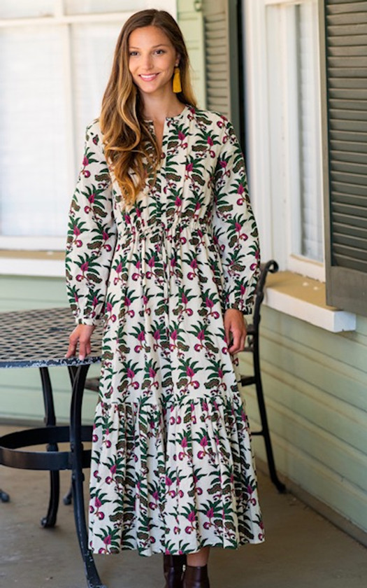 Olivia James Lydia Dress, Indian Leaf Pine