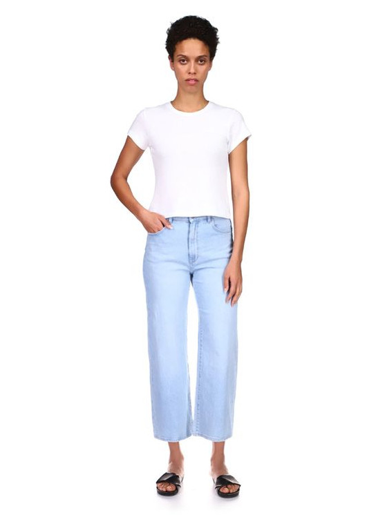 DL1961 Hepburn Wide Leg Jean, Baby Blue
