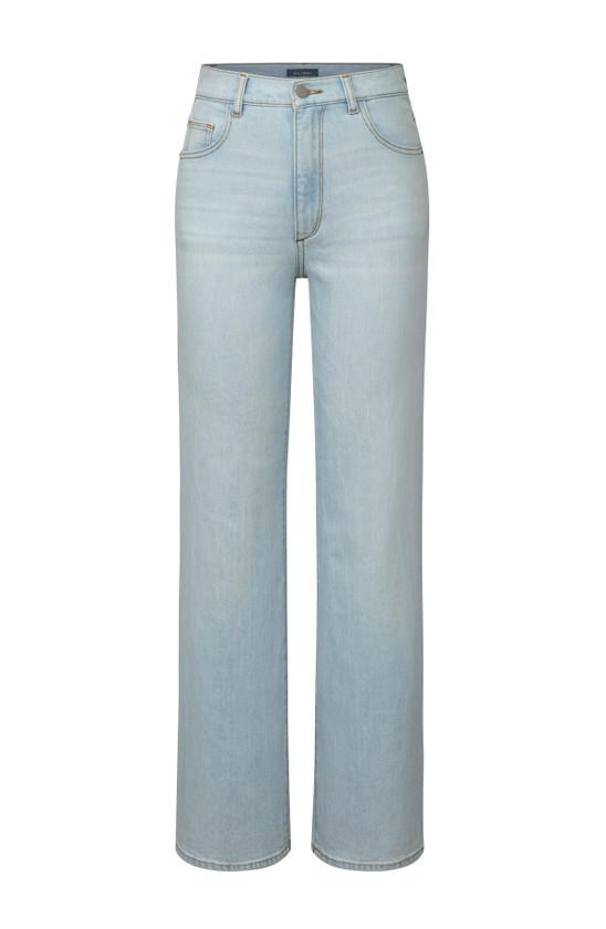 DL1961 Hepburn Wide Leg Jean, Sea Salt