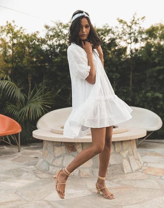 Cleobella Nevah Mini Dress, White