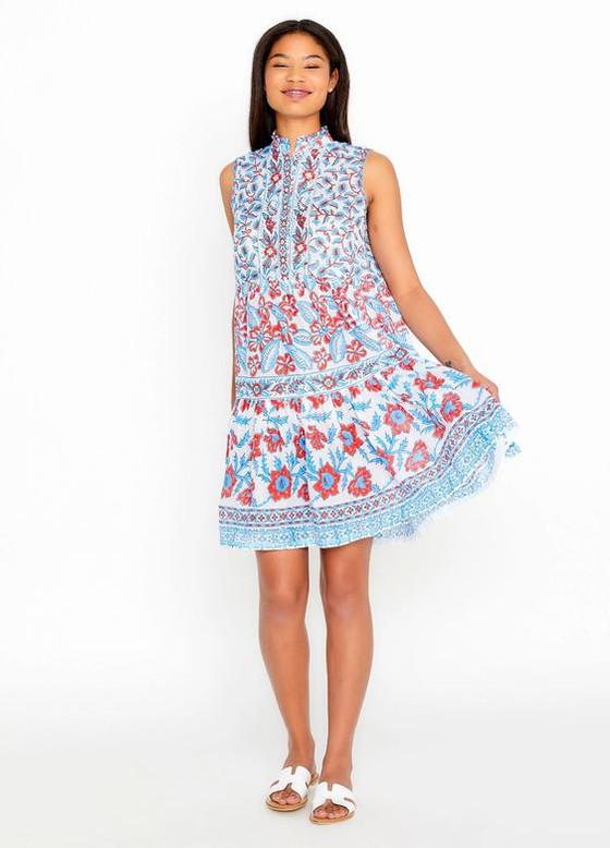Bella Tu Fiona Short Tier Dress, Poppy