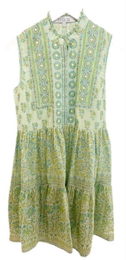 Bella Tu Cora Short Tier Dress, Citrus
