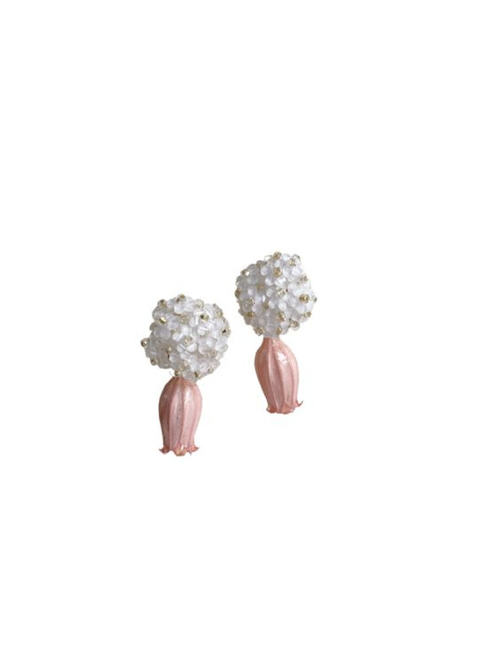 Nicola Bathie White Floral Bouquet + Petal Pink Dried Flower