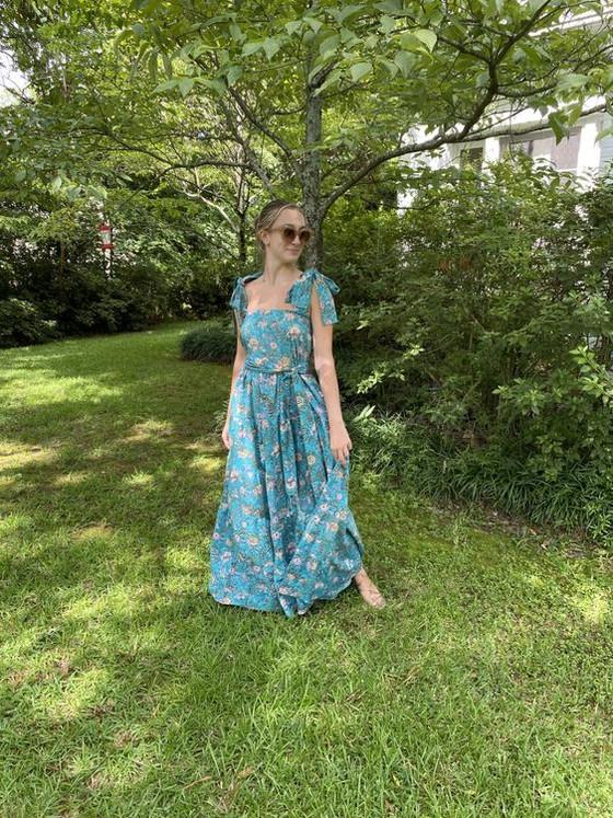 Sue Sartor Annabel Sun Dress, Florida Aqua