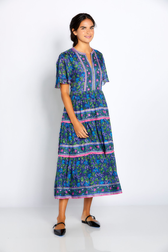 "Bella Tu Elsbeth 48"" Tier Dress, Navy"
