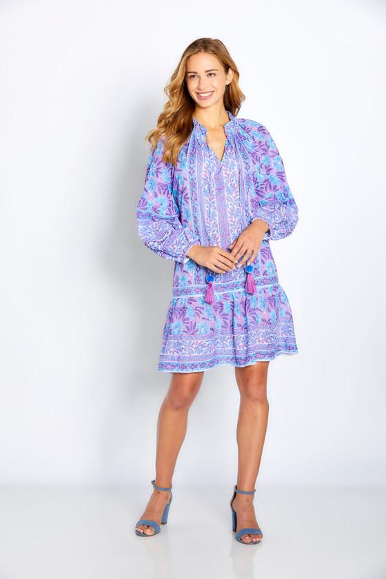 """Bella Tu Phoebe 35"""" Peasant Dress, Crocus"""