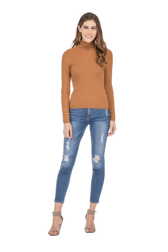 Jade Cable Sweater, Toffee