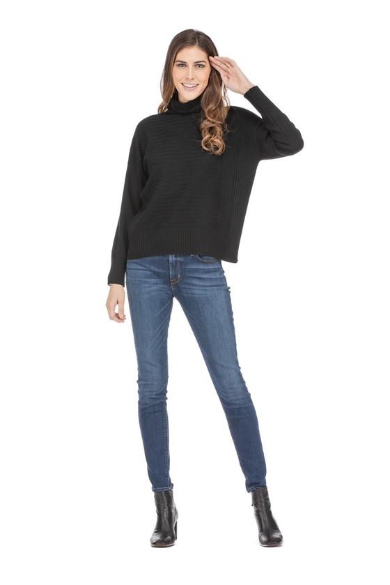 Jade Stripery Sweater, Black