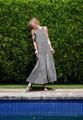 MDS Stripes Georgia Sleeveless Peasant Dress