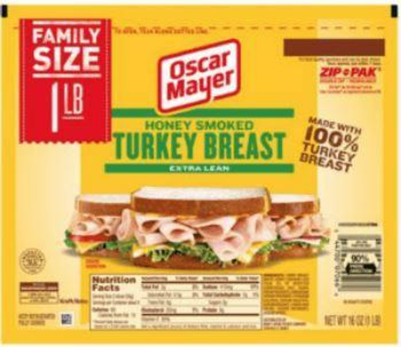 Oscar Mayer Smoked Turkey, 16 oz