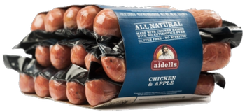 Aidells  ABF Chicken Apple Sausage, 3lbs! (Fully Cooked) Jumbo Pk