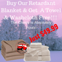 Fire Retardant Blanket W/Free Towel & Washcloth