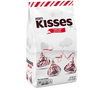 HERSHEY'S KISSES Christmas Candy Cane Chocolate Mint Candy with Peppermint Stripes, 33 oz. Bag