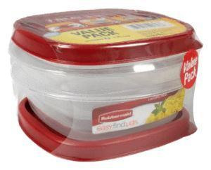 Rubbermaid Food Storage Container Easy Find Lid, 1.25 Cup (2 Count)