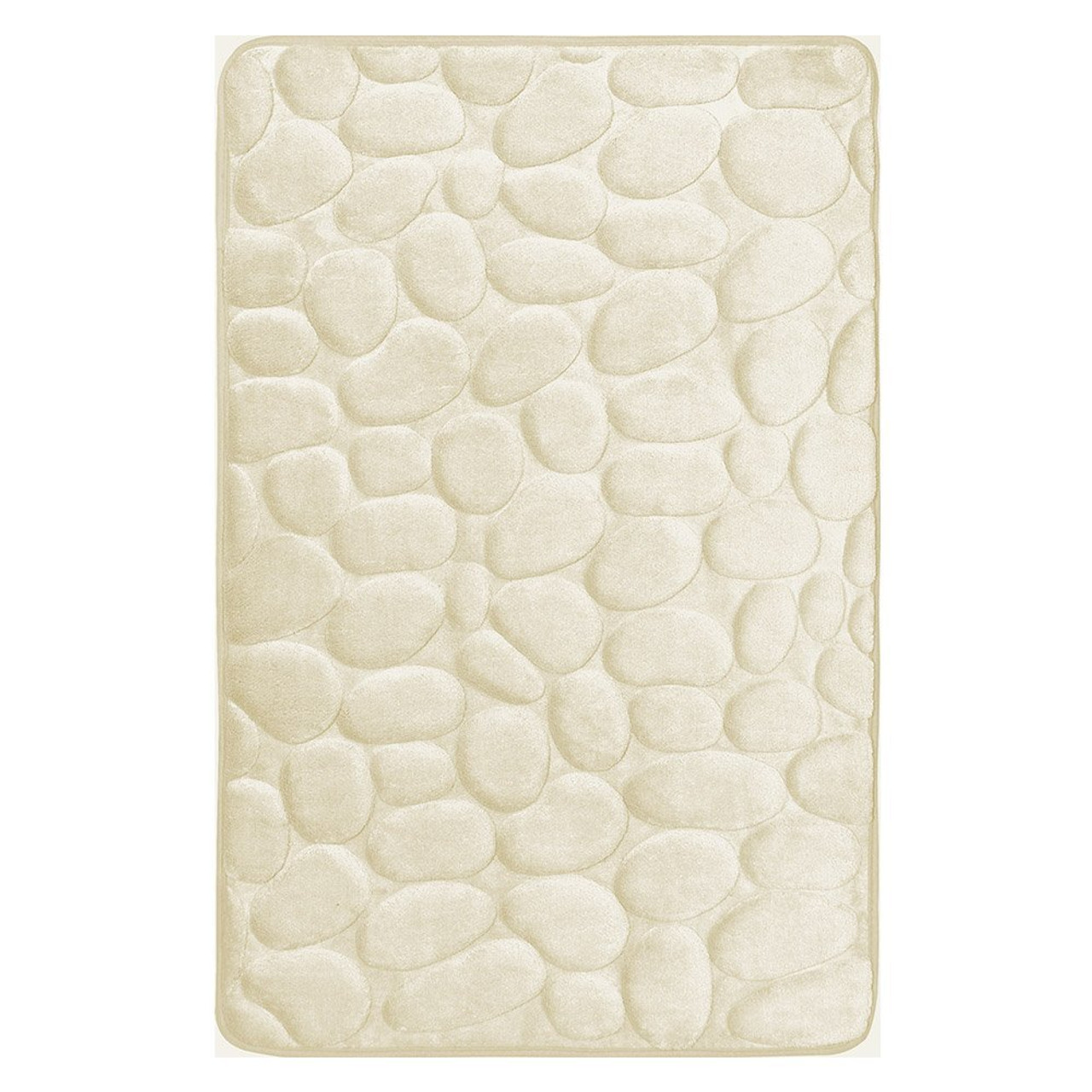 """17/"""" X 24/"""" 4 Colors Memory Foam Bath Mat//area Rug with Flocked Floral Pattern"""