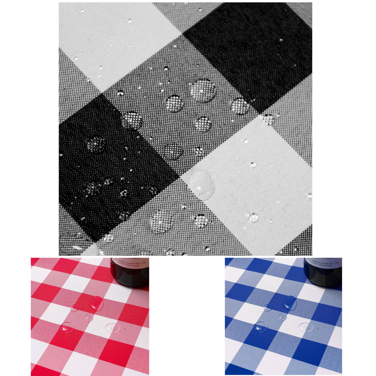 Assorted Colors Plaid /& Tartan Stain Resistant /& Spill-Proof Fabric Tablecloth