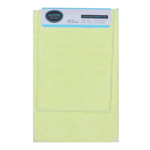 Bathmat Rug 2-Piece Set: Green