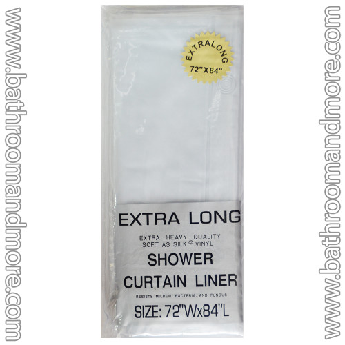 Super Long vinyl Shower Curtain Liner frosty clear