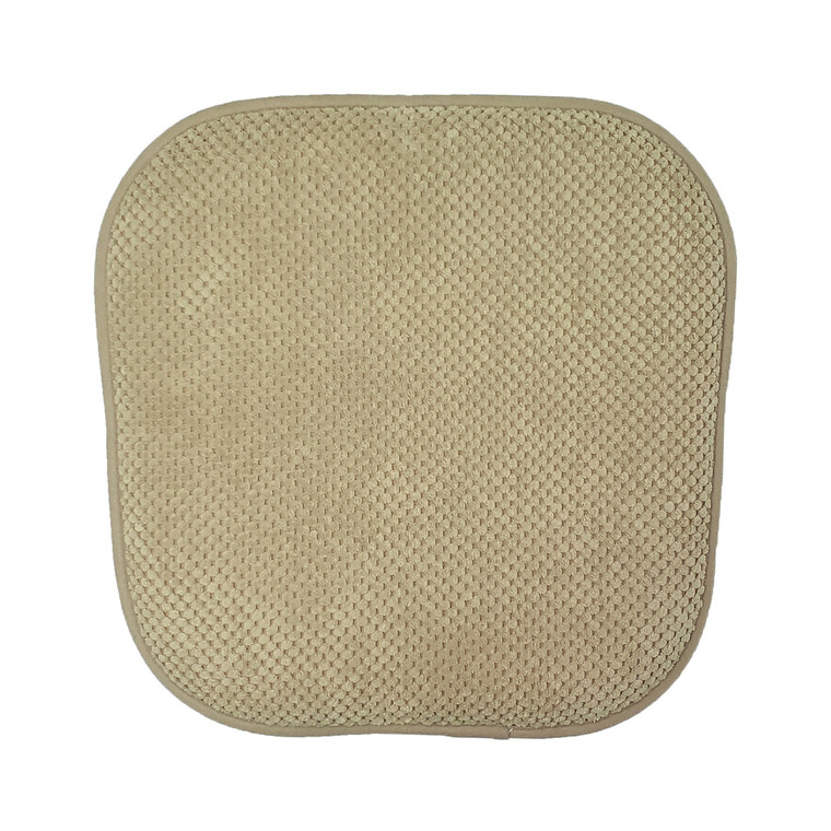Single (1) Soft Chair Pad Cushion with Non-Skid Backing for Kitchen Office Living Room Dining Room and Folding Chairs (Taupe)