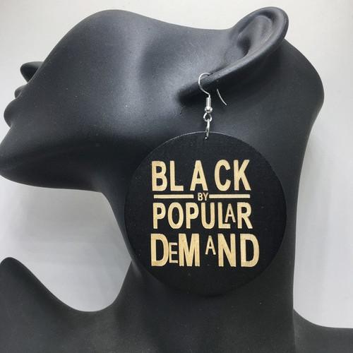 Black by Popular Demand Earrings