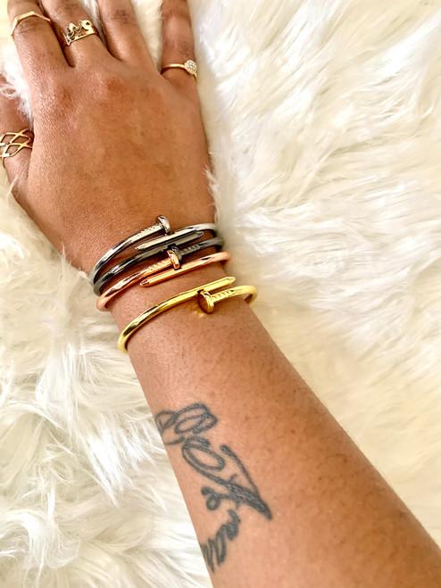 Nail Cuff Bracelet