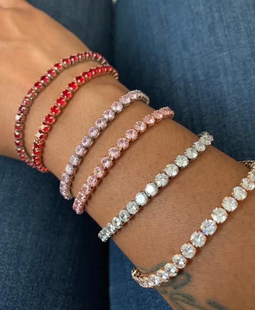 CZ Ice Tennis Bracelet