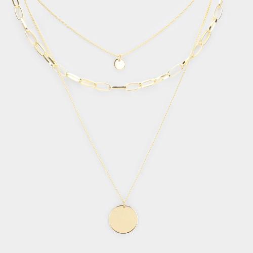Pendant Triple Layered Necklace