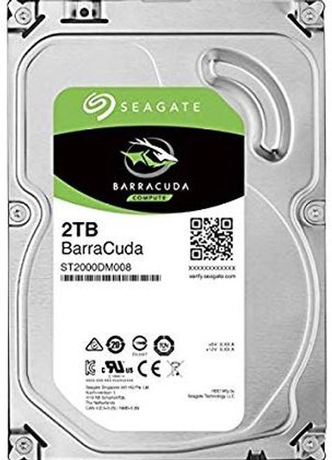 """Seagate BarraCuda HDD 3.5"""" 2TB SATA 7200 RPM 256MB CACHE 2YRS"""