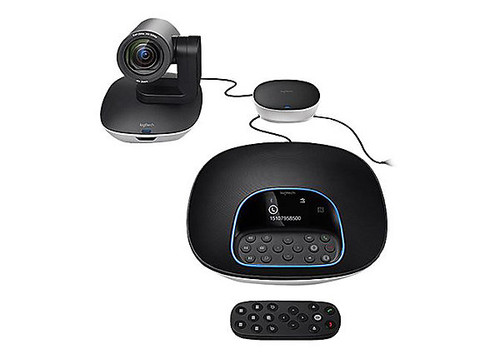 Logitech Logitech GROUP: Motorized pan/tilt, 10x Zoom, 90view Camera, Remote, Speakerphone