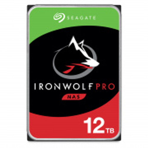"Seagate IronWolf Pro NAS HDD 3.5"" 12TB SATA 7200RPM 256MB CACHE NO ENCRYPTION 5YRS"