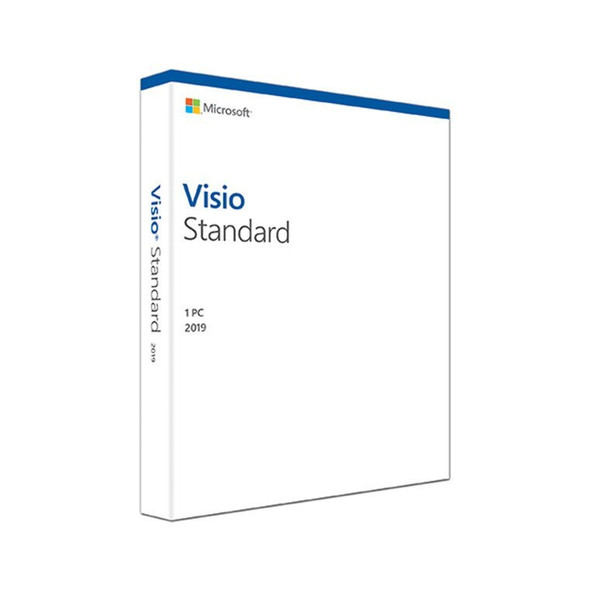 Microsoft Visio Standard 2019 Win English Medialess | D86-05829 | Rosman Computers - 2